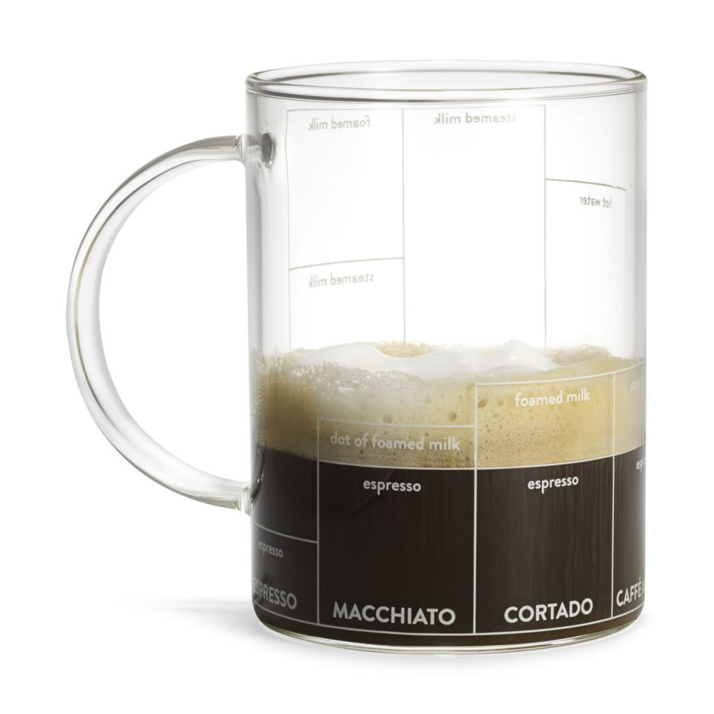 Multi-Cinno Mug helps you make exactly the perfect latte, cappuccino, machiato...you name it.