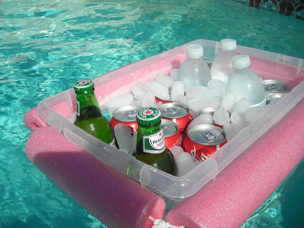 Pool Noodle Cooler hack on Instructables for your next cookout
