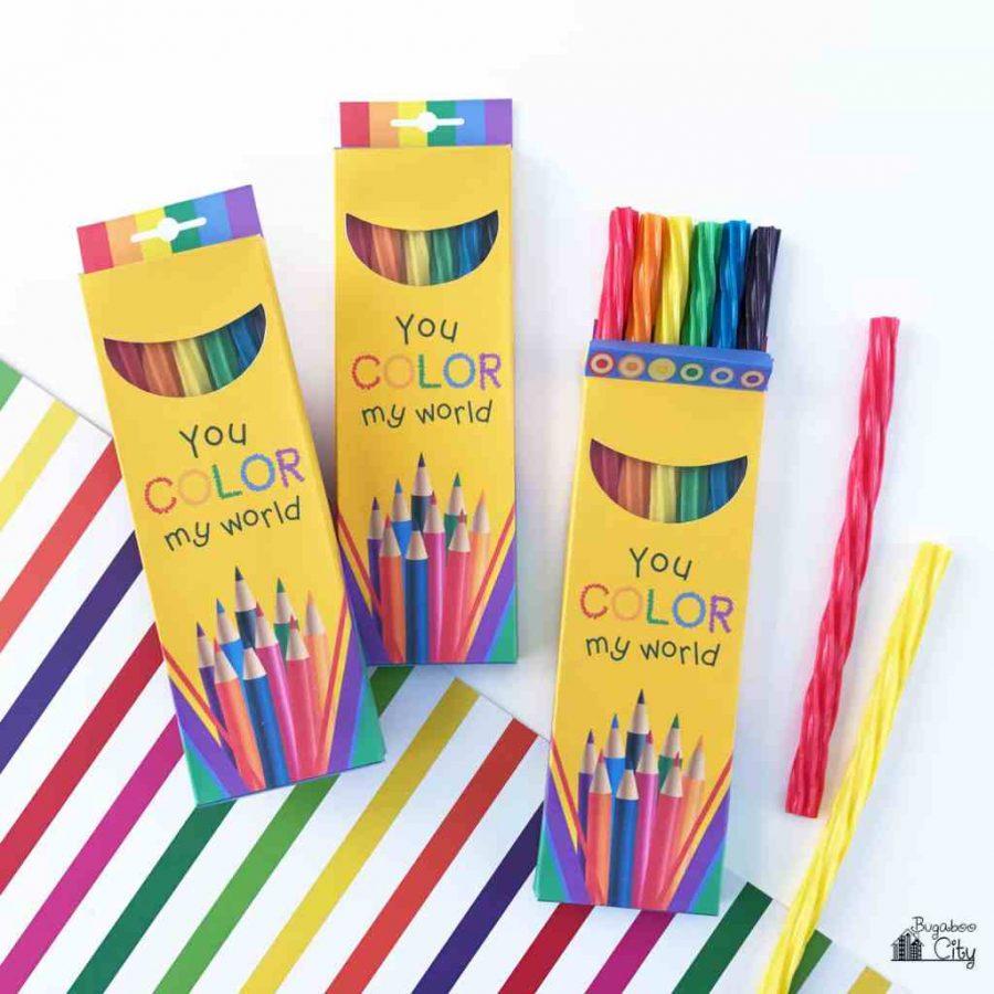 Teacher appreciation food gift idea: Candy colored pencils at Bugaboo City
