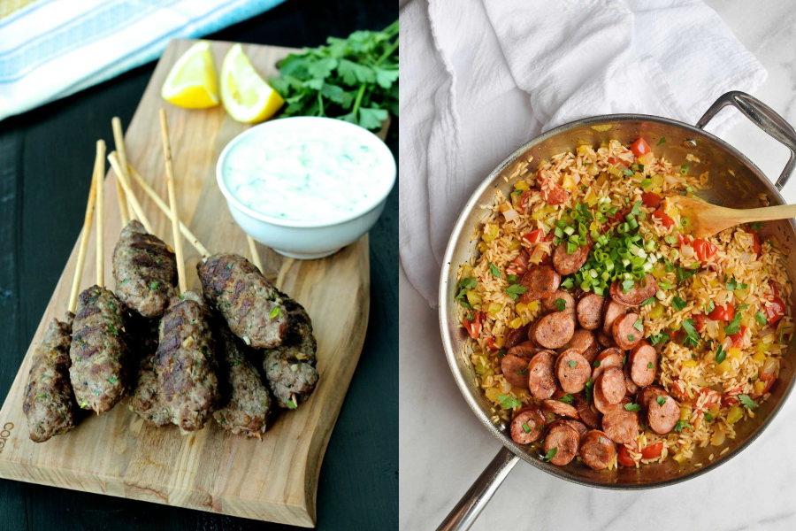 On the latest Cool Mom Eats weekly meal plan, we've got 5 easy, family friendly recipes for the week ahead, including Beef Kofta Kebabs at The Foodie Physician and One Pan Jambalaya at Rachel Schultz