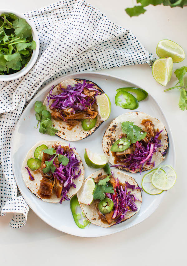 Cool Mom Eats weekly meal plan: 15-Minute Korean Jackfruit Tacos at Sweet Potato Soul