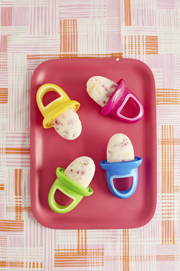 Fruity Pops and Pumpkin Pie Pops for toddlers: Recipe from Baby-Led Feeding by Jenna Helwig