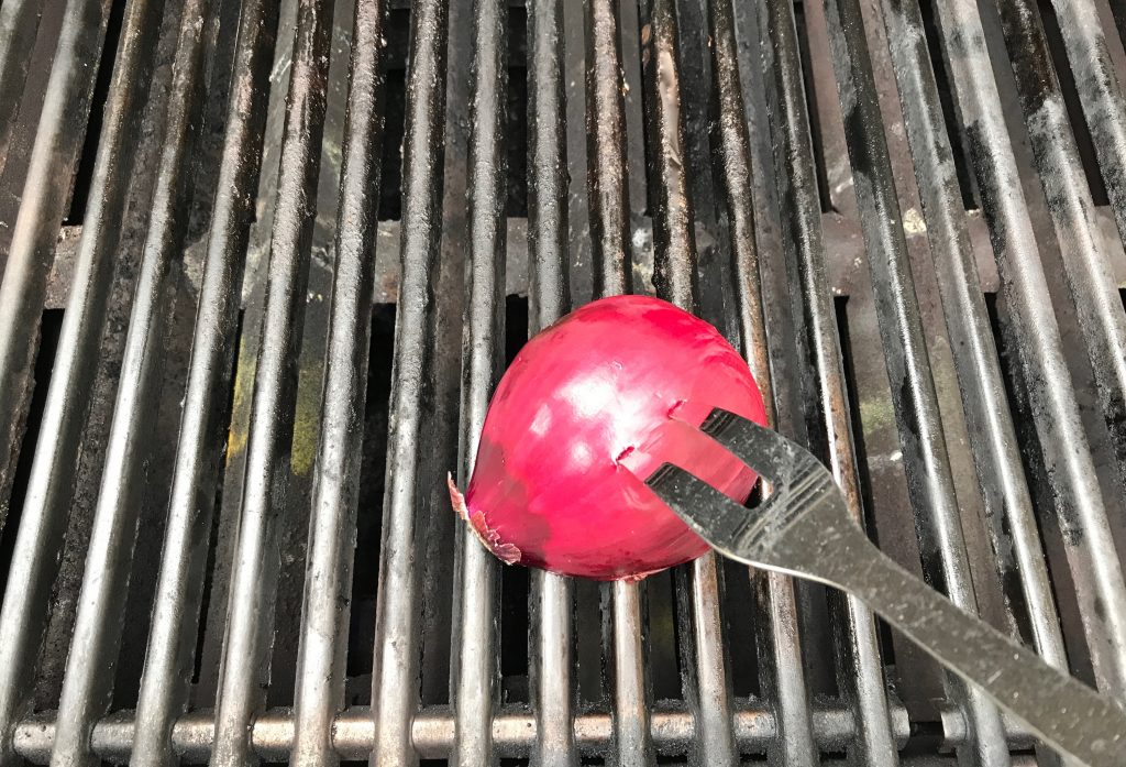 Best grilling hacks for summer: a more natural way to clean the grill. | © Jane Sweeney Cool Mom Eats