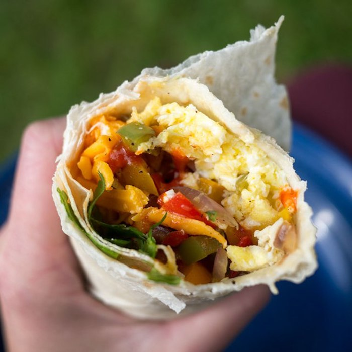Simple camping recipes: Breakfast Burritos at The Camp Gal