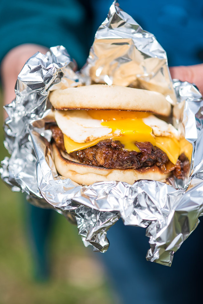 Simple camping recipes: Pulled Pork English Muffin Sandwiches at The Adventure Bite