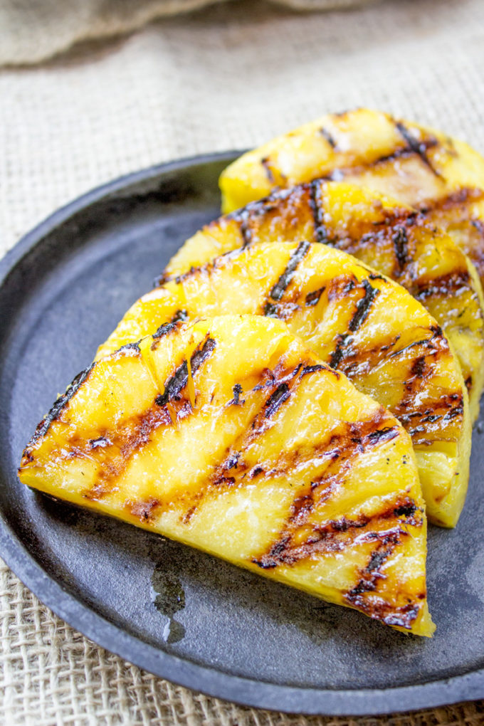 Easy camping recipes: Grilled Pineapple at Dinner then Dessert
