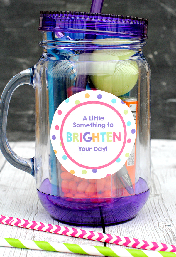 Creative camp care packages: Brighten Your Day mug from Crazy Little Projects