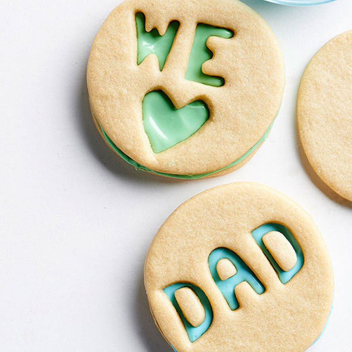 Father's Day treats kids can help make: Cut-out sugar cookie sandwiches at BHG