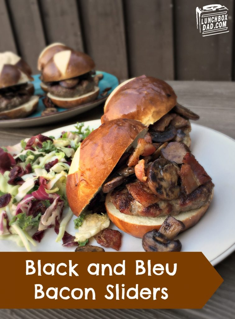 Favorite Father's Day recipes: Black and Bleu Bacon Sliders | Lunchbox Dad