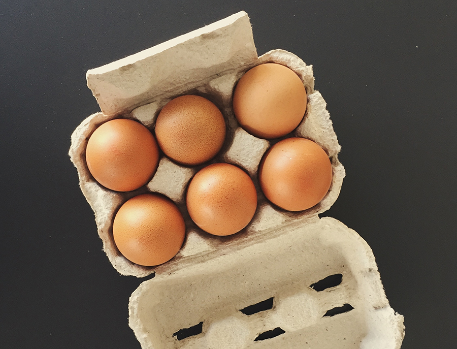 How long can food be left out before it spoils? Eggs