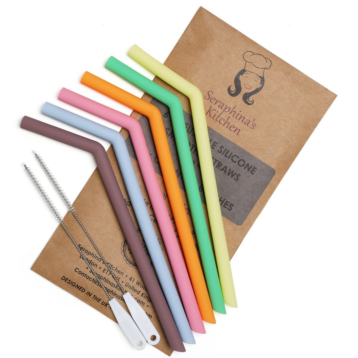 Reusable straws: Seraphina's Kitchen silicone straw set | Amazon