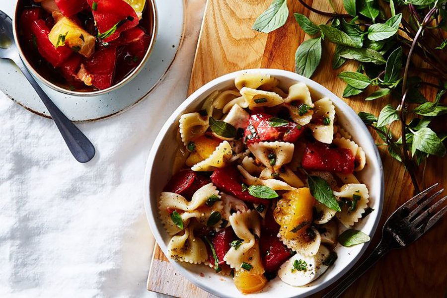 Creative Summer Pasta Salads: Bow-Tie Pasta Salad With No-Cook Tomato Sauce from Food52