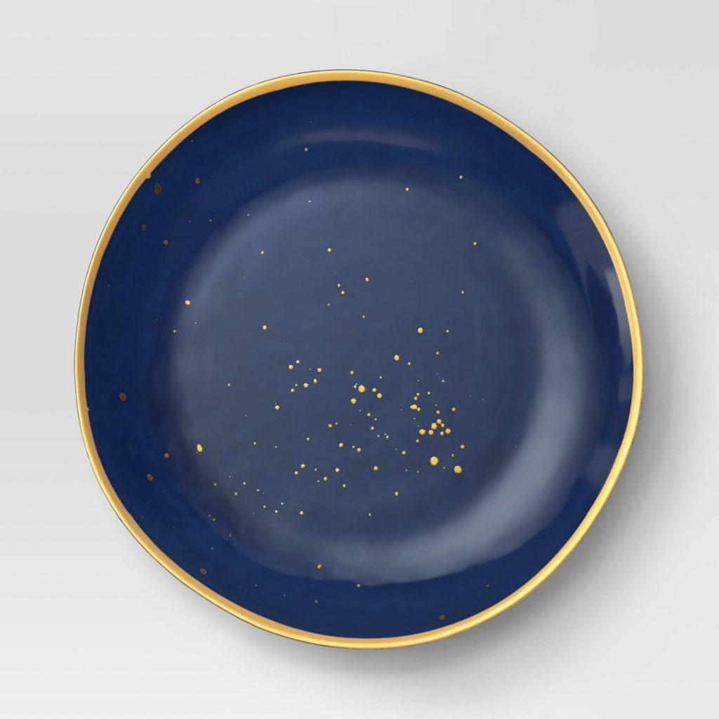 Must-have unbreakable melamine plates for summer entertaining: Navy speckled plates at Target
