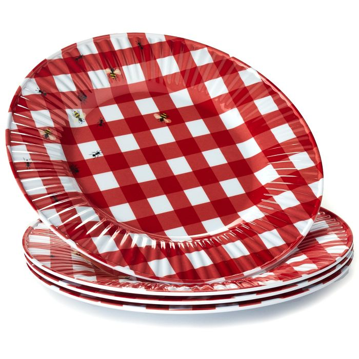 Must-have unbreakable melamine plates for summer: Picnic-inspired gingham plates at Target