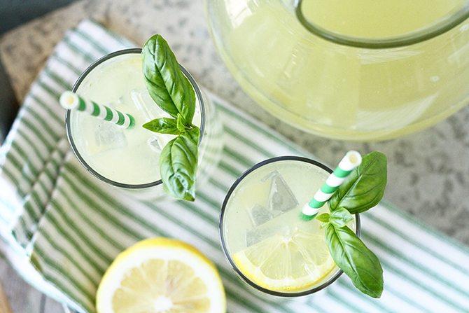 Lemonade Hacks: Basil Lemonade by Stacey Little for Southern Bite
