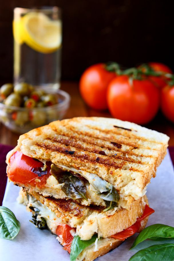 Cool Mom Eats weekly meal plan: Caprese Panini at Heavenly Home Cooking