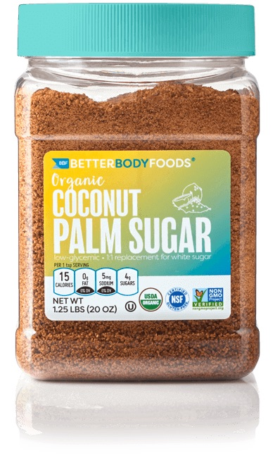 All about coconut sugar: Better Body Foods Coconut Palm Sugar