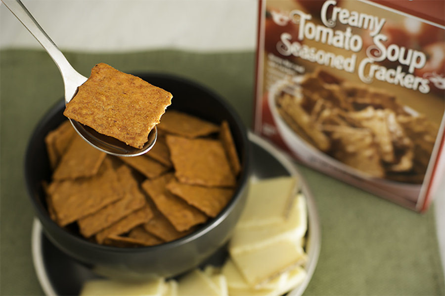 Camp Snacks for kids from Trader Joe's: Creamy Tomato Soup Seasoned Crackers