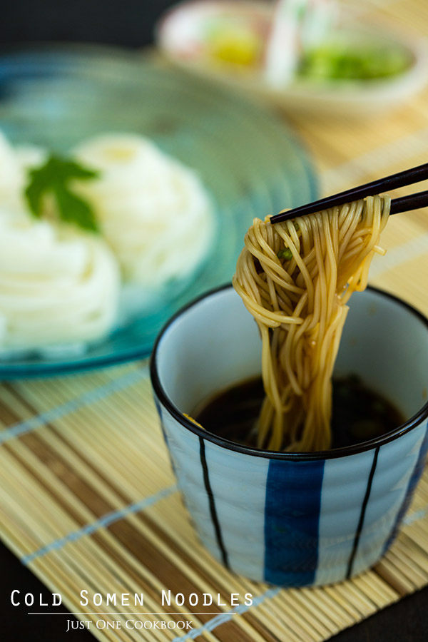 Cold Noodle Dishes:  Cold Somen Recipe at Just One Cookbook