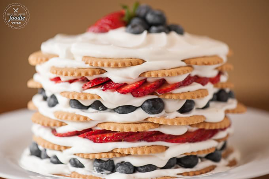 Easy last-minute 4th of July desserts: Coconut Berry Icebox Cake at Self Proclaimed Foodie