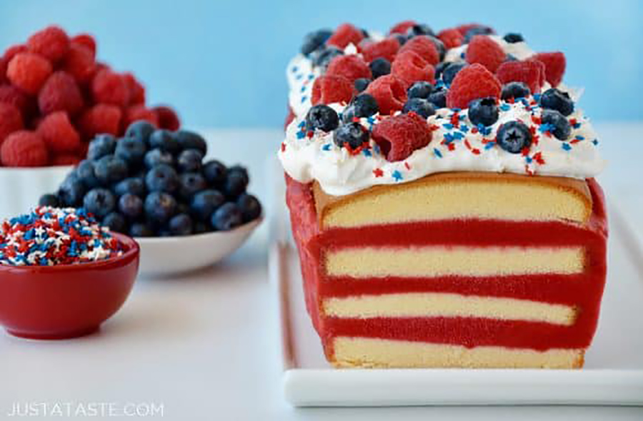 Easy last-minute 4th of July desserts: Easy July 4th Ice Cream Cake at Just a Taste
