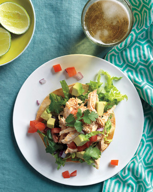 Easy meal plan for summer: Rotisserie chicken tostada salad recipe from Martha Stewart