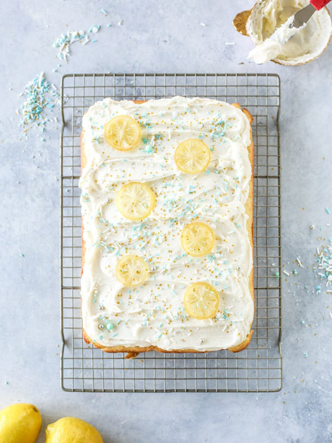 Sheet Cake Recipes That Make Every Celebration Better: Lemon Sheet Cake With Cream Cheese Frosting at How Sweet Eats Is