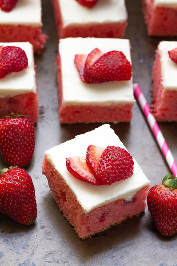 Sheet Cake Recipes That Make Every Celebration Better: Strawberry Sheet Cake With Buttercream Frosting at Life Made Sweeter