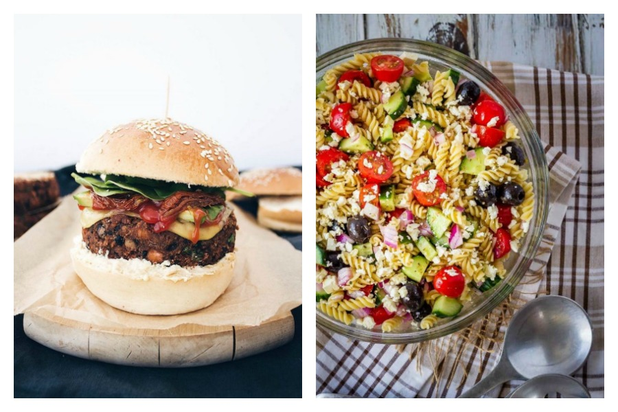Weekly meal plan: 5 easy recipes for the week ahead, from savory burgers for Meatless Monday to a flavor-packed Greek pasta salad