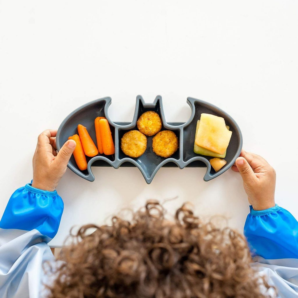 Bumkins silicone Batman dish for babies and toddlers | Dishes to make mealtime fun at CoolMomEats.com