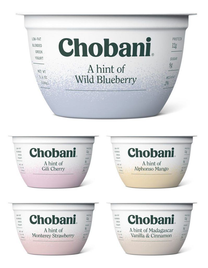 Lunch box snacks made more healthful: Swap out highly sweetened yogurts for greek yogurt like Chobani A Hint Of