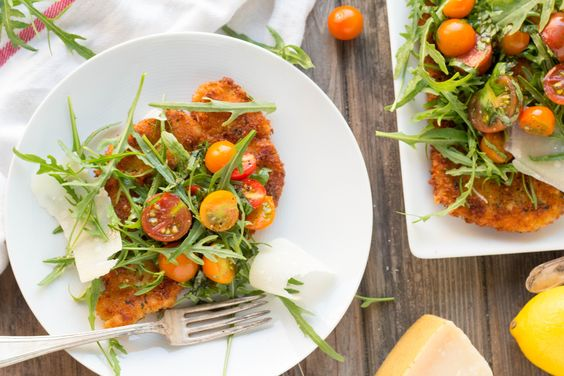 Family-friendly dinners made with cherry tomatoes: Chicken Milanese at Coley Cooks
