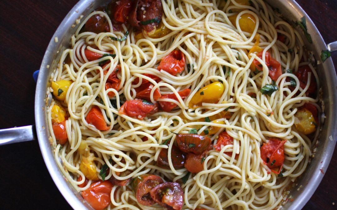 5 deliciously simple dinners made with a pint of cherry tomatoes.