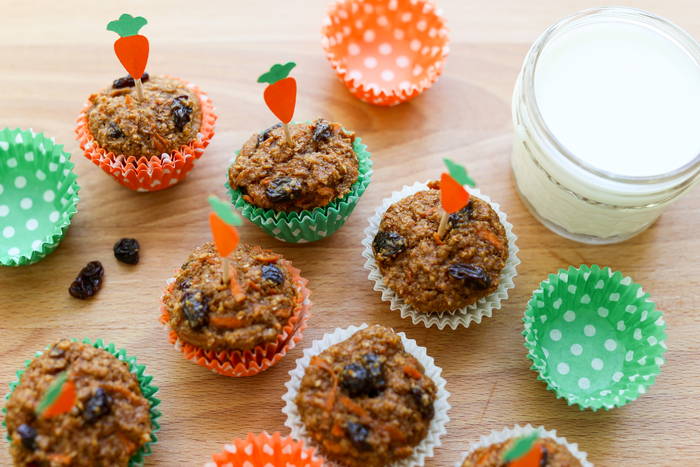 Essential school lunch packing list: Carrot Cake Bran Muffins at MilkLife