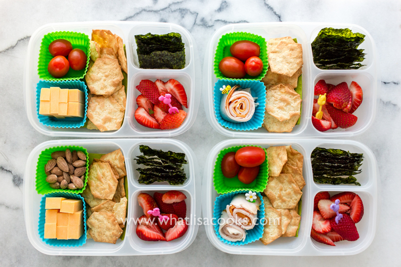 Gluten-free school lunch recipes: Snack Boxes at What Lisa Cooks