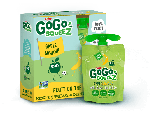 GoGoSqueez fruit pouches: Healthier alternative to fruit snacks in a lunch box