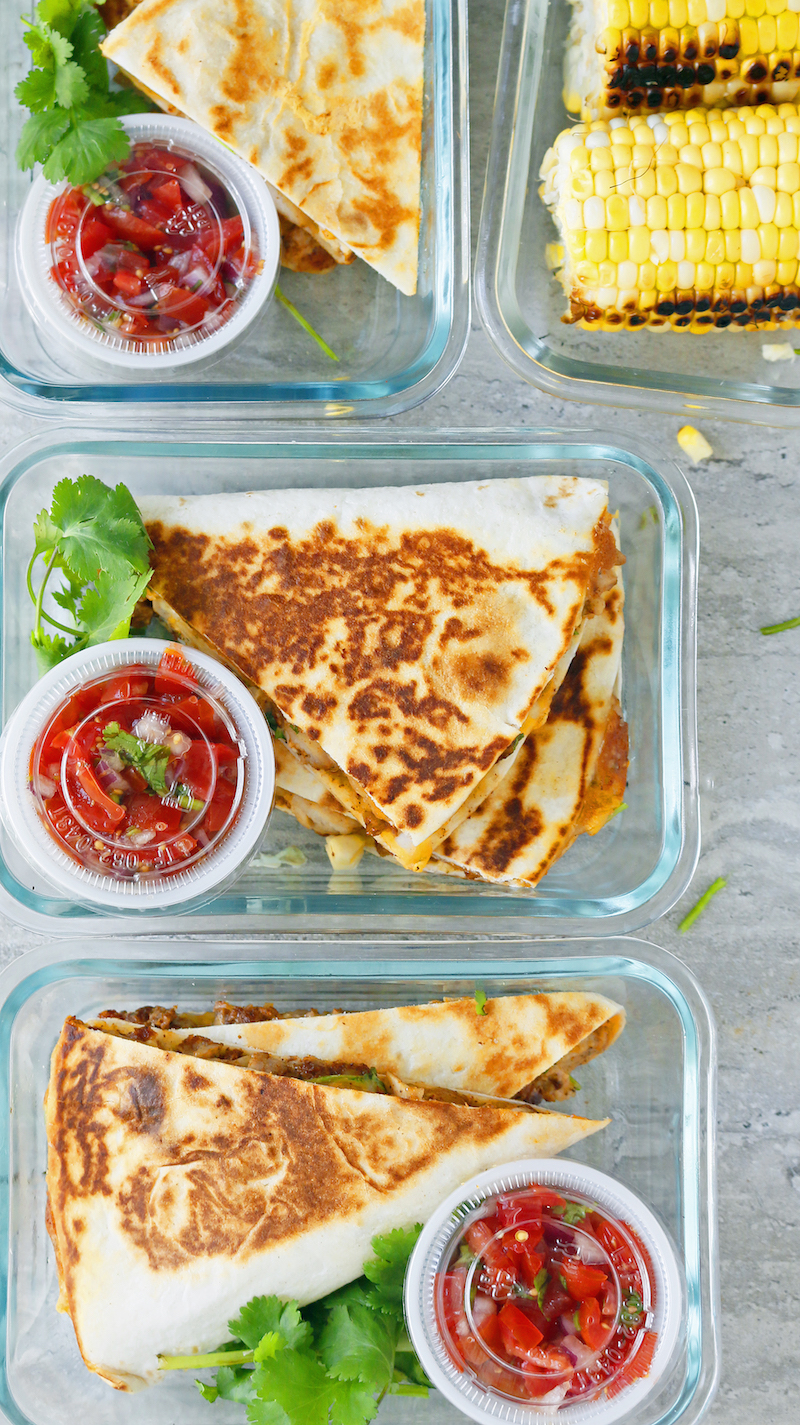 Hot lunch box ideas for school: Chicken Ranch Quesadillas at Kitchen @ Hoskins