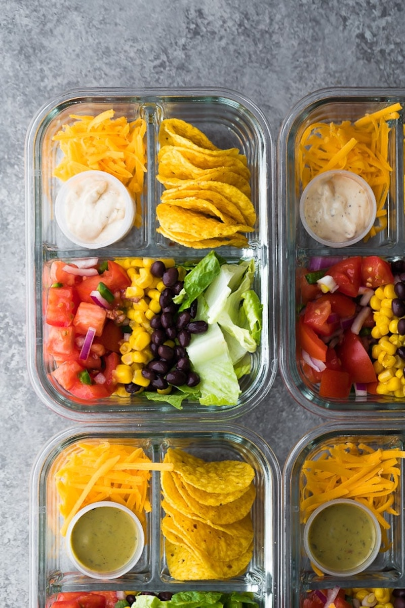Non-sandwich school lunch ideas: Taco Bento Box at Sweet Peas and Saffron