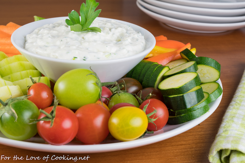 Picky eater school lunch fixes: Send dips for their veggies, like this Herb and Garlic dip at For the Love of Cooking