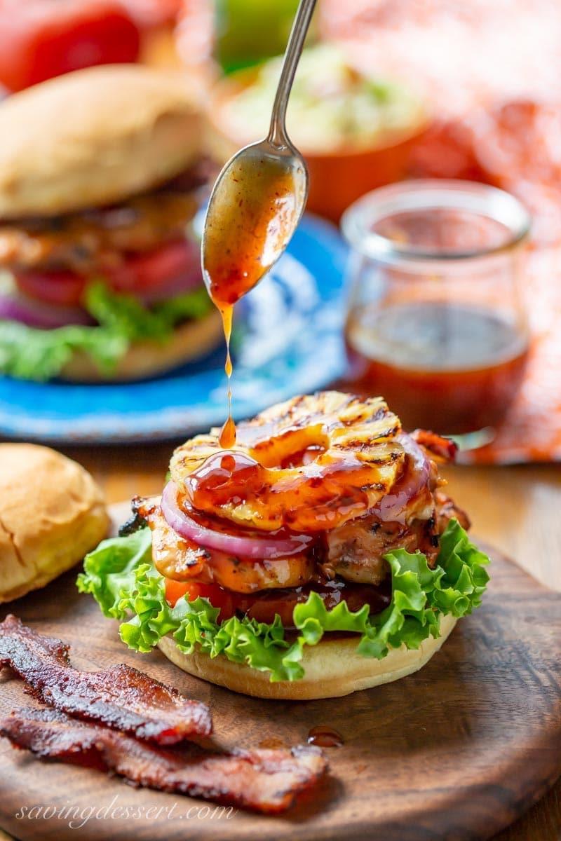 Weekly meal plan: Hawaiian Chicken Sandwiches at Saving Dessert