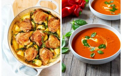 Weekly meal plan: 5 easy meals for the week ahead, including a one-pot chicken dinner and roasted red pepper soup
