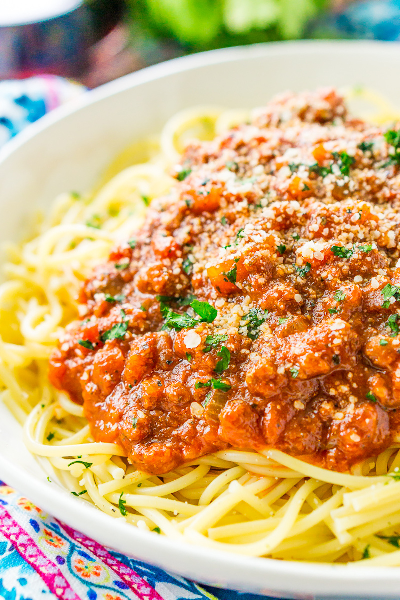 Weekly meal plan: Spaghetti Bolognese at Sugar and Soul