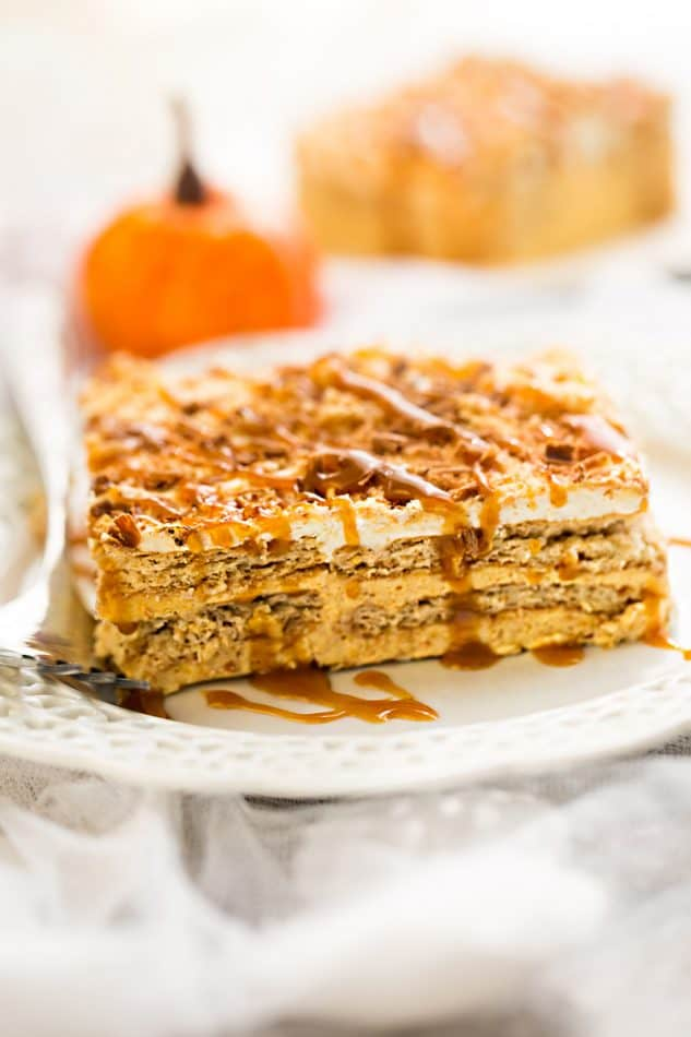 Creative ways to use canned pumpkin in recipes:  Pumpkin icebox cake | Life made Sweeter