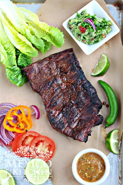 Hispanic heritage month recipes: Mexican Carne Asada recipe with regional marinade variations from Mexico in my Kitchen