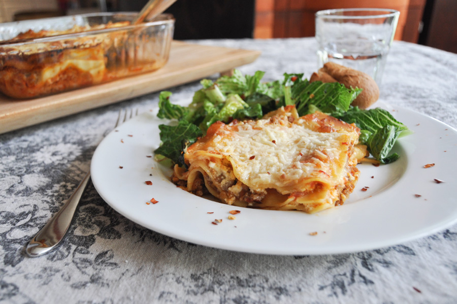Easy Weeknight Lasagna Recipe by Anne Wolfe Postic | Cool Mom Eats
