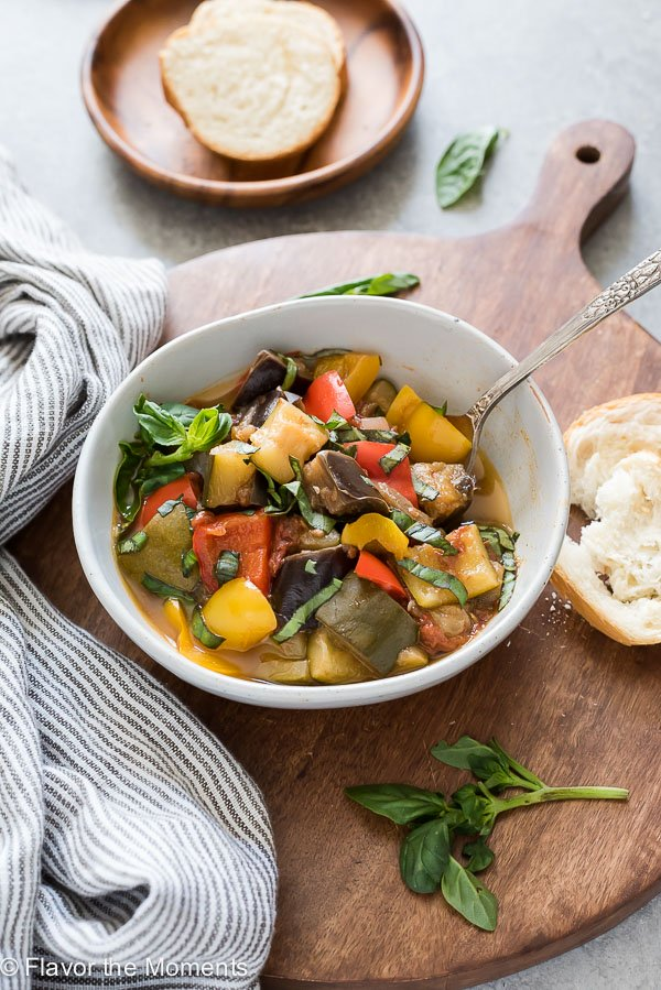 Classic dinner recipes for the Instant Pot: Instant Pot Ratatouille recipe from Flavor the Moments