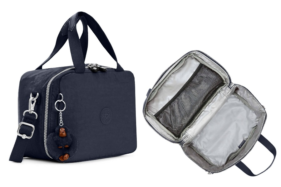 Kipling soft lunch bags for big kids in solids and sophisticated prints