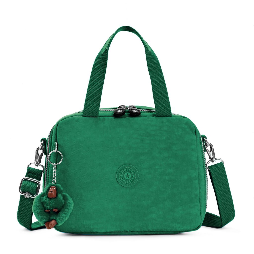 Kipling Miyo soft lunch bag in green