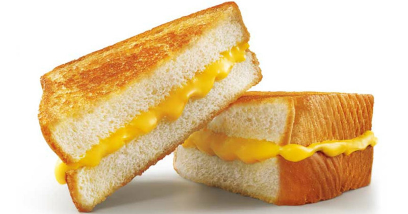 Meatless meals at America's top 10 fast food restaurants: Grilled cheese at Sonic
