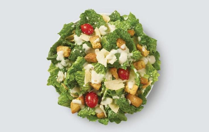 Meatless meals at America's top 10 fast food restaurants: Side Caesar salad at Wendy's